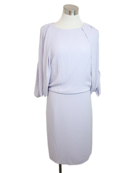 Halston Lavender Polyester Dress 1