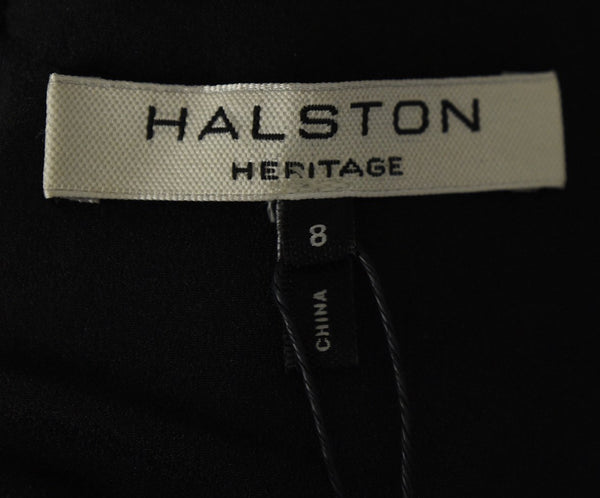 Evening Halston Size 8 Black Nylon Lace Dress 4