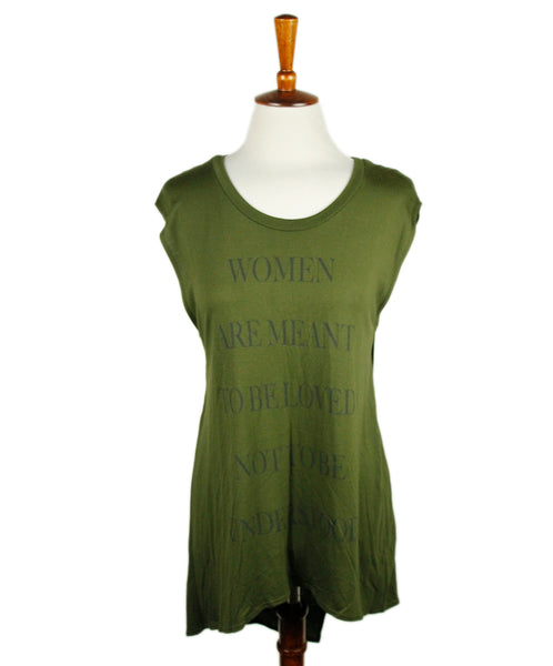 Haute Hippie Olive Green Cotton Top Sz XS