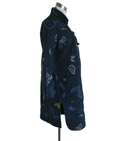 Heart Uniform Blue Coat with Multi Color Embroidery sz. 6 | Heart