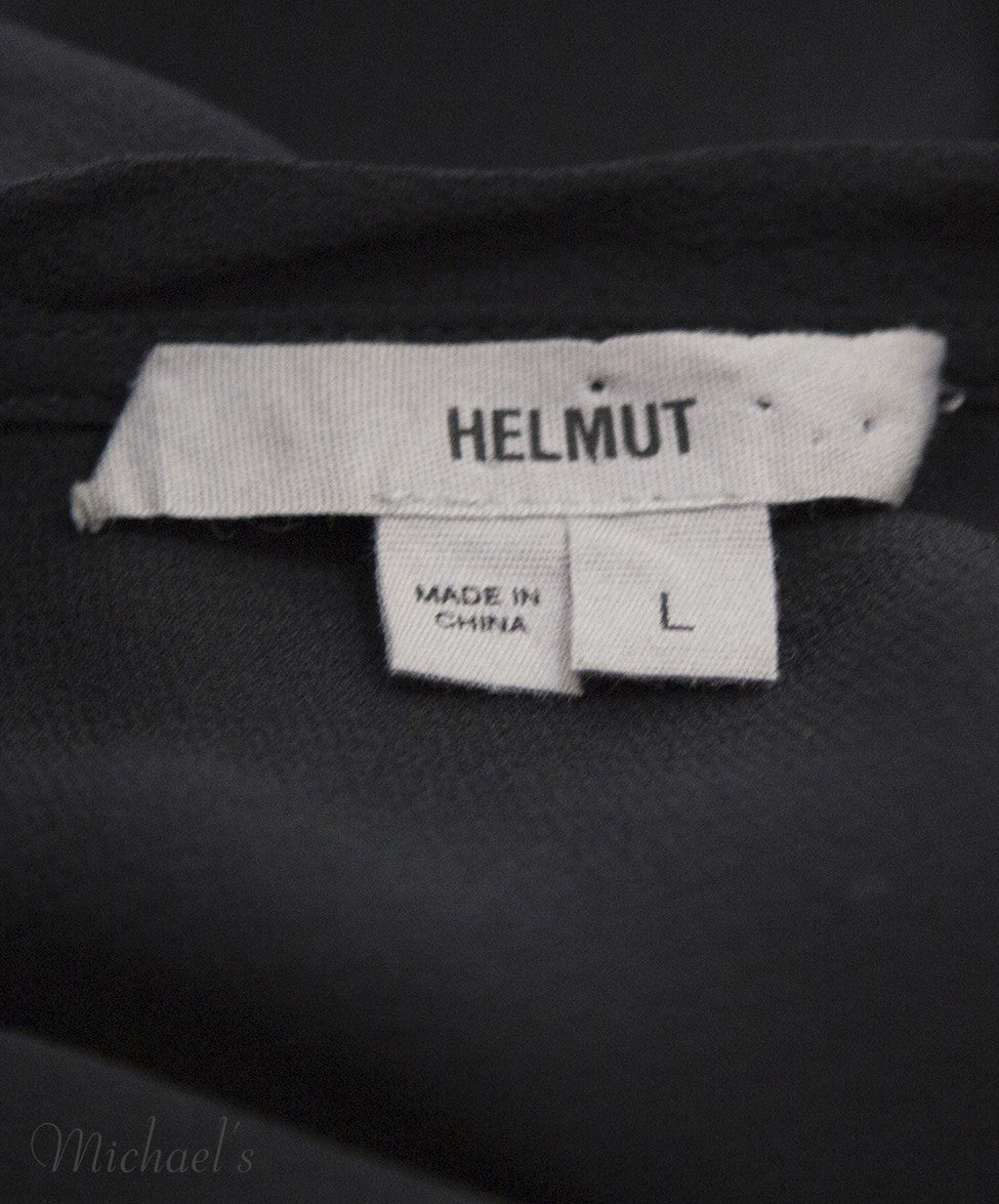 Helmut Lang Black Sheer Rayon Top Sz Large - Michael's Consignment NYC  - 7