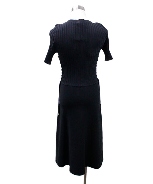 Helmut Lang Black Viscose Knit Dress 2