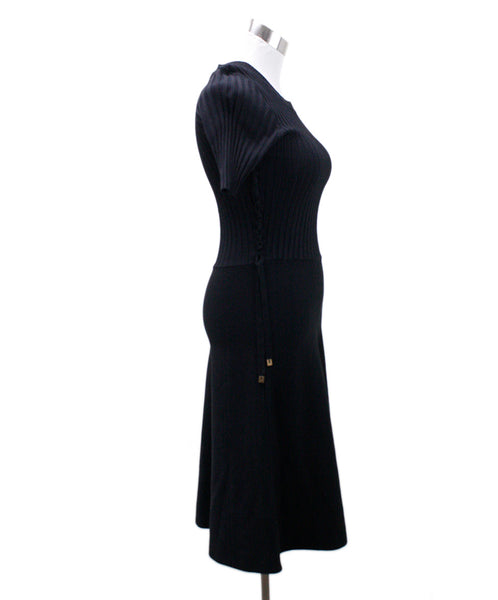 Helmut Lang Black Viscose Knit Dress 1