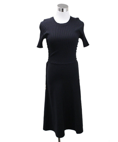 Helmut Lang Black Viscose Knit Dress