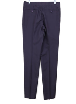 Helmut Lang Navy Silk Pants 1