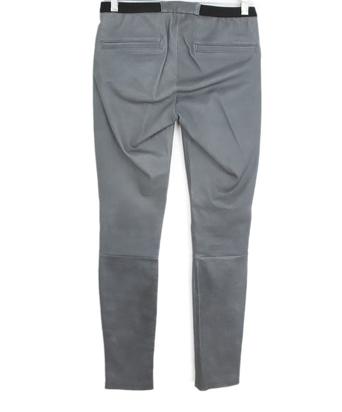 Helmut Lang Grey Leather Pants 2