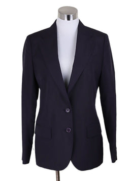 Helmut Lang Purple Plum Silk Jacket 1