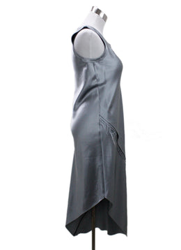 Helmut Lang Silver Silk Dress 1