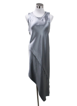 Helmut Lang Silver Silk Dress