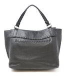 Henry Beguelin Black Grained Leather Magnets Handbag 3