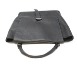Henry Beguelin Black Grained Leather Magnets Handbag 5