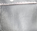 Henry Beguelin Black Grained Leather Magnets Handbag 7