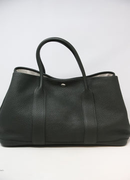 Hermes Dark Green Leather Handbag