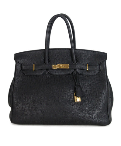 Hermes 35 cm 2010 Black Leather Birkin Bag 1 ... fead2d0b4085c