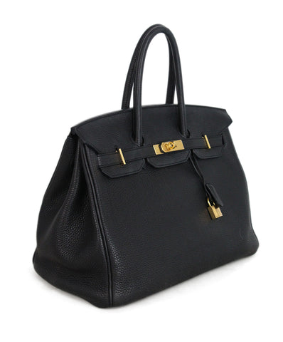 Hermes 35 cm 2010 Black Leather Birkin Bag 1