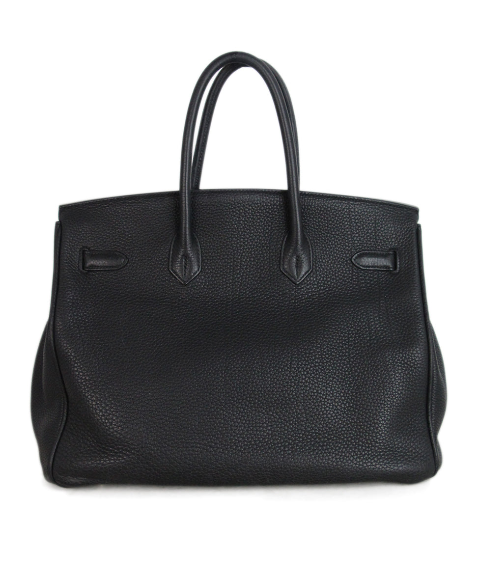 Hermes 35 cm 2010 Black Leather Birkin Bag 3