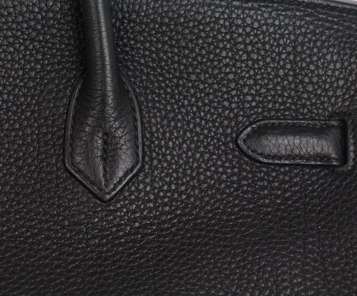 Hermes 35 cm 2010 Black Leather Birkin Bag 9