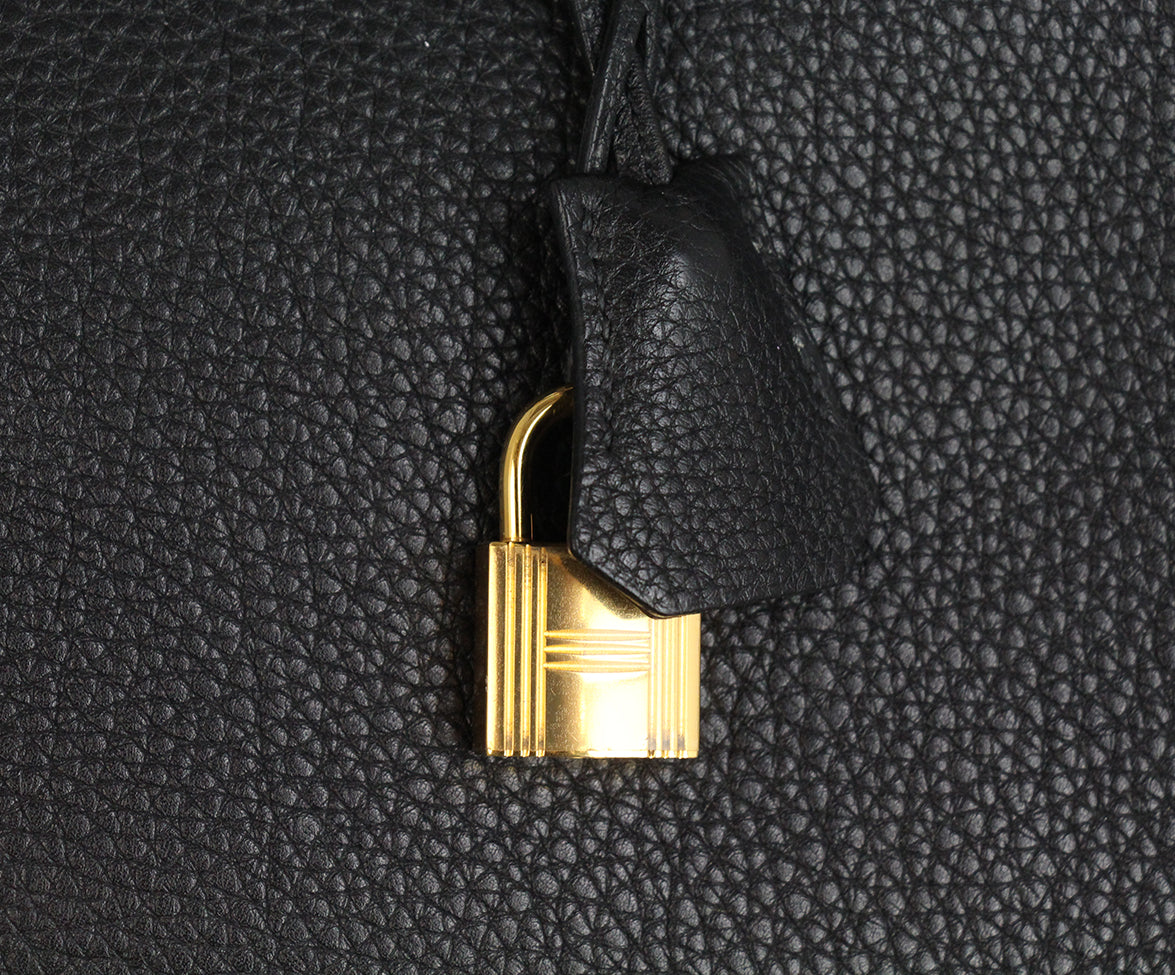 Hermes 35 cm 2010 Black Leather Birkin Bag 11