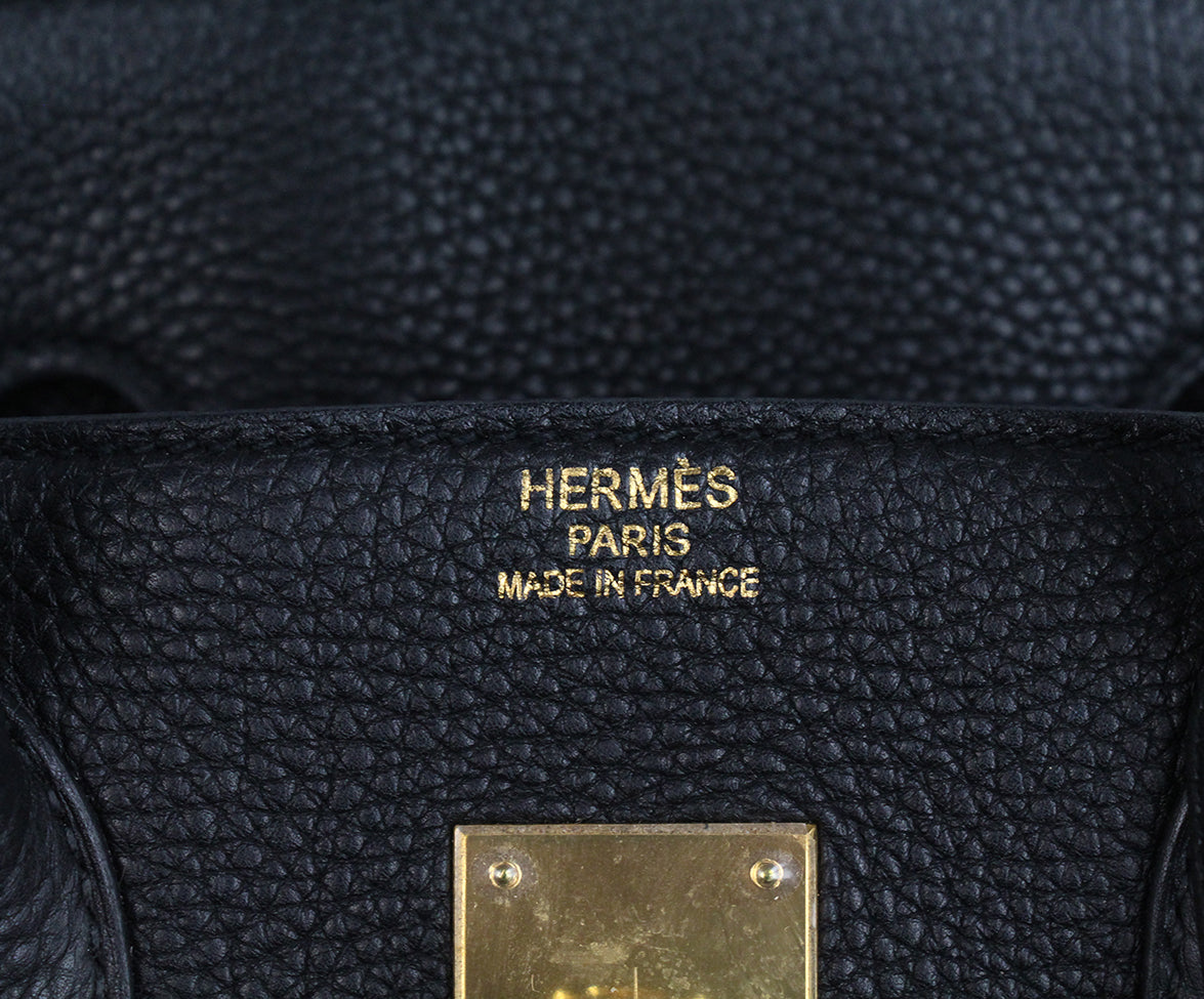 Hermes 35 cm 2010 Black Leather Birkin Bag 14