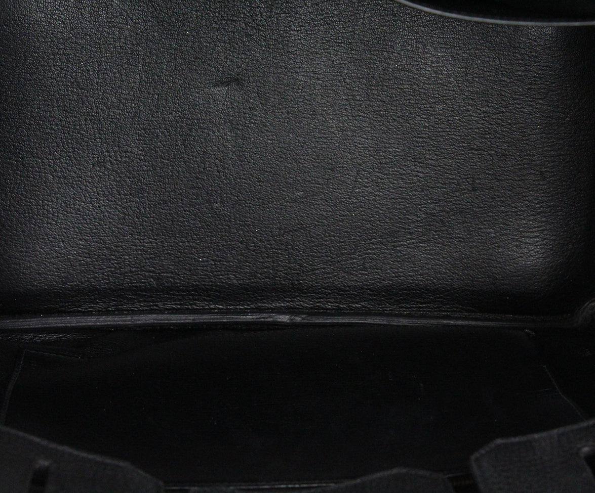Hermes 35 cm 2010 Black Leather Birkin Bag 6