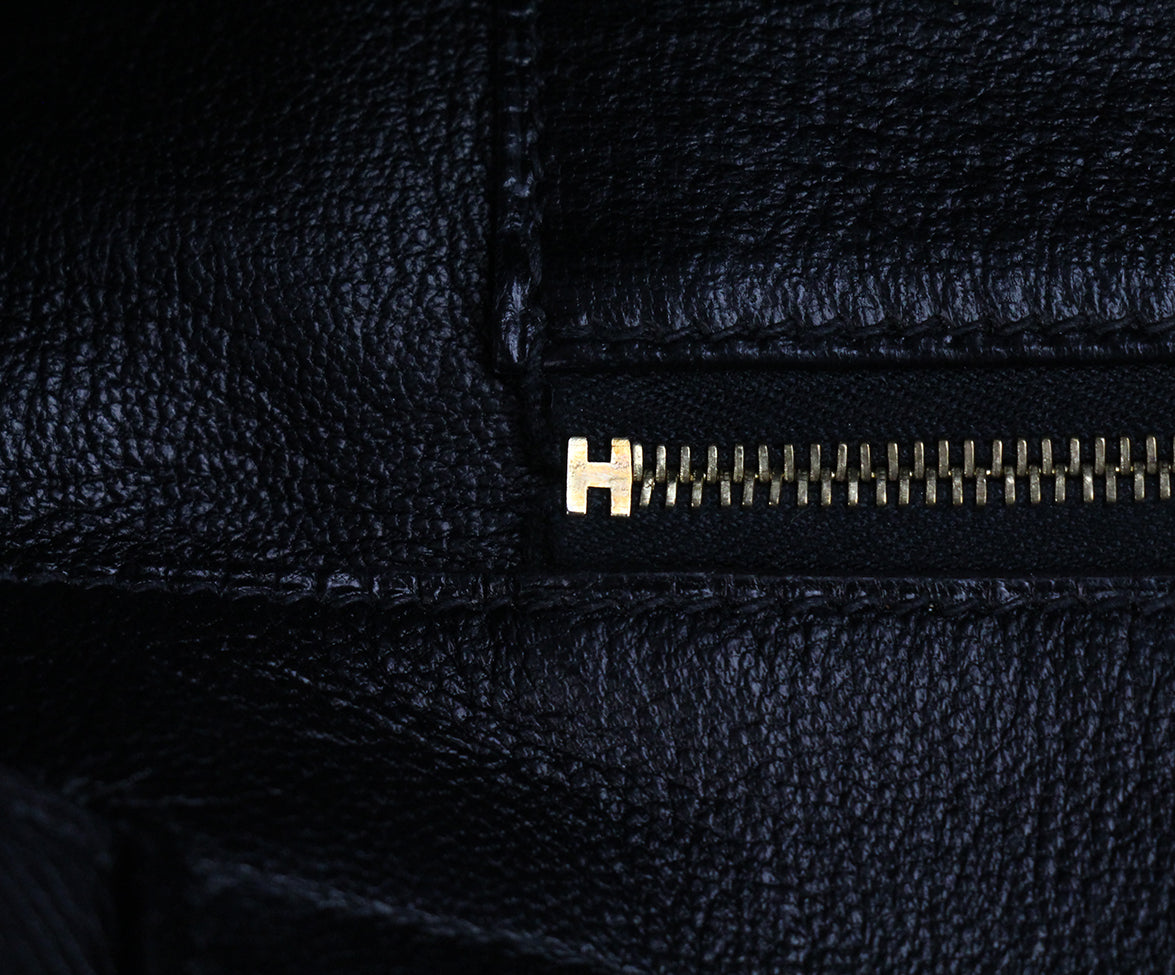 Hermes 35 cm 2010 Black Leather Birkin Bag 7