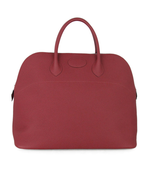 Hermes 45cm Travel Bolide Red Wine Leather Bag 1 3b5129968a2da