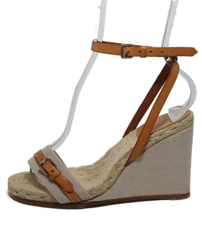 Hermes Beige Canvas Leather Sandals 1