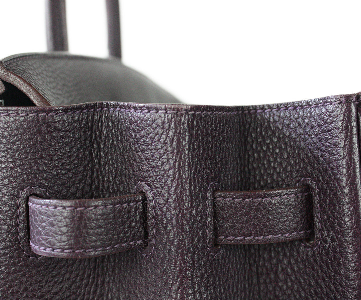Hermes Birkin Raisin Grained Leather Bag - Michael's Consignment NYC  - 6