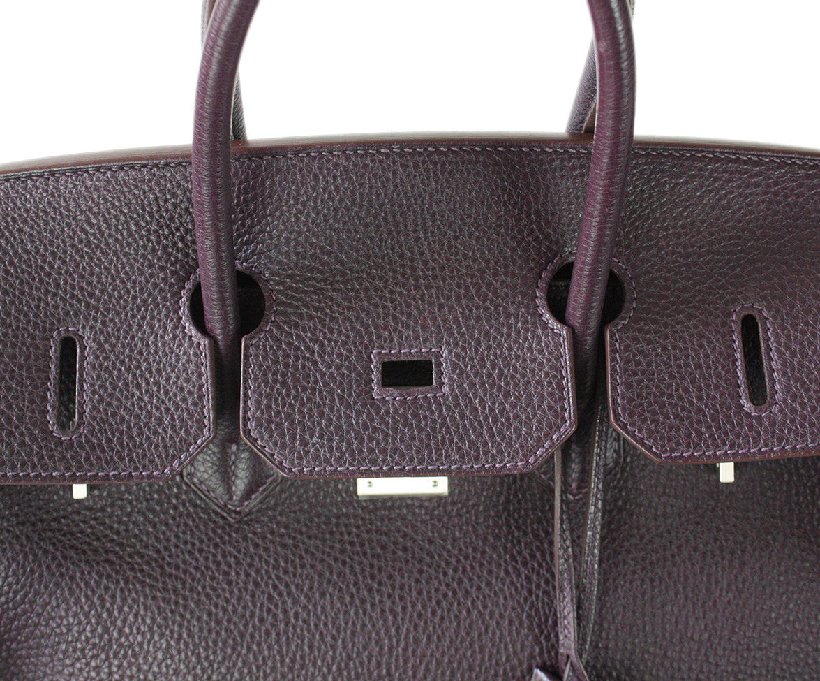 Hermes Birkin Raisin Grained Leather Bag - Michael's Consignment NYC  - 7