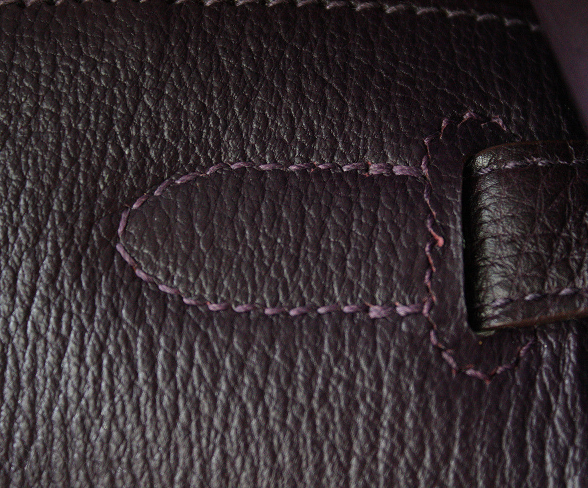 Hermes Birkin Raisin Grained Leather Bag - Michael's Consignment NYC  - 18