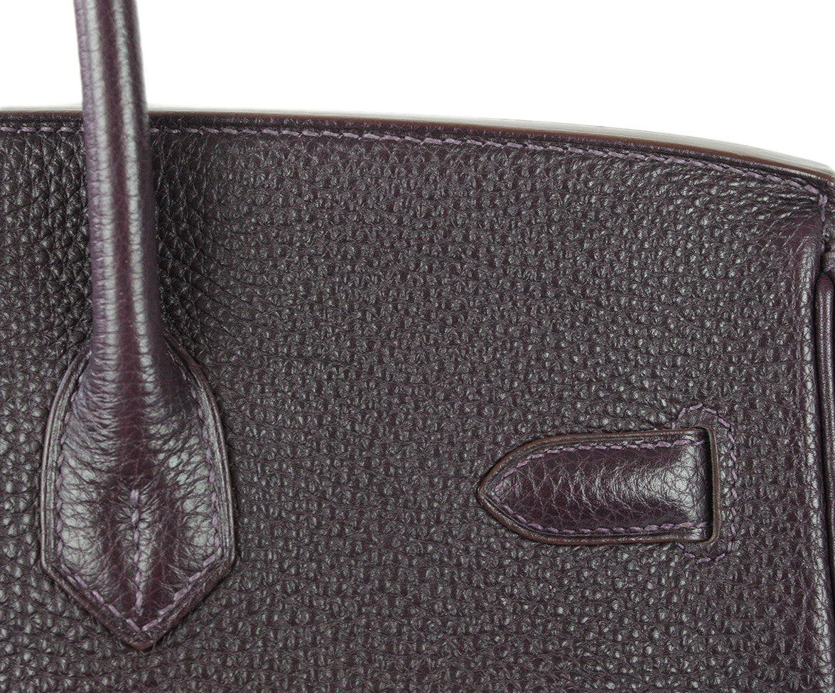 Hermes Birkin Raisin Grained Leather Bag - Michael's Consignment NYC  - 19