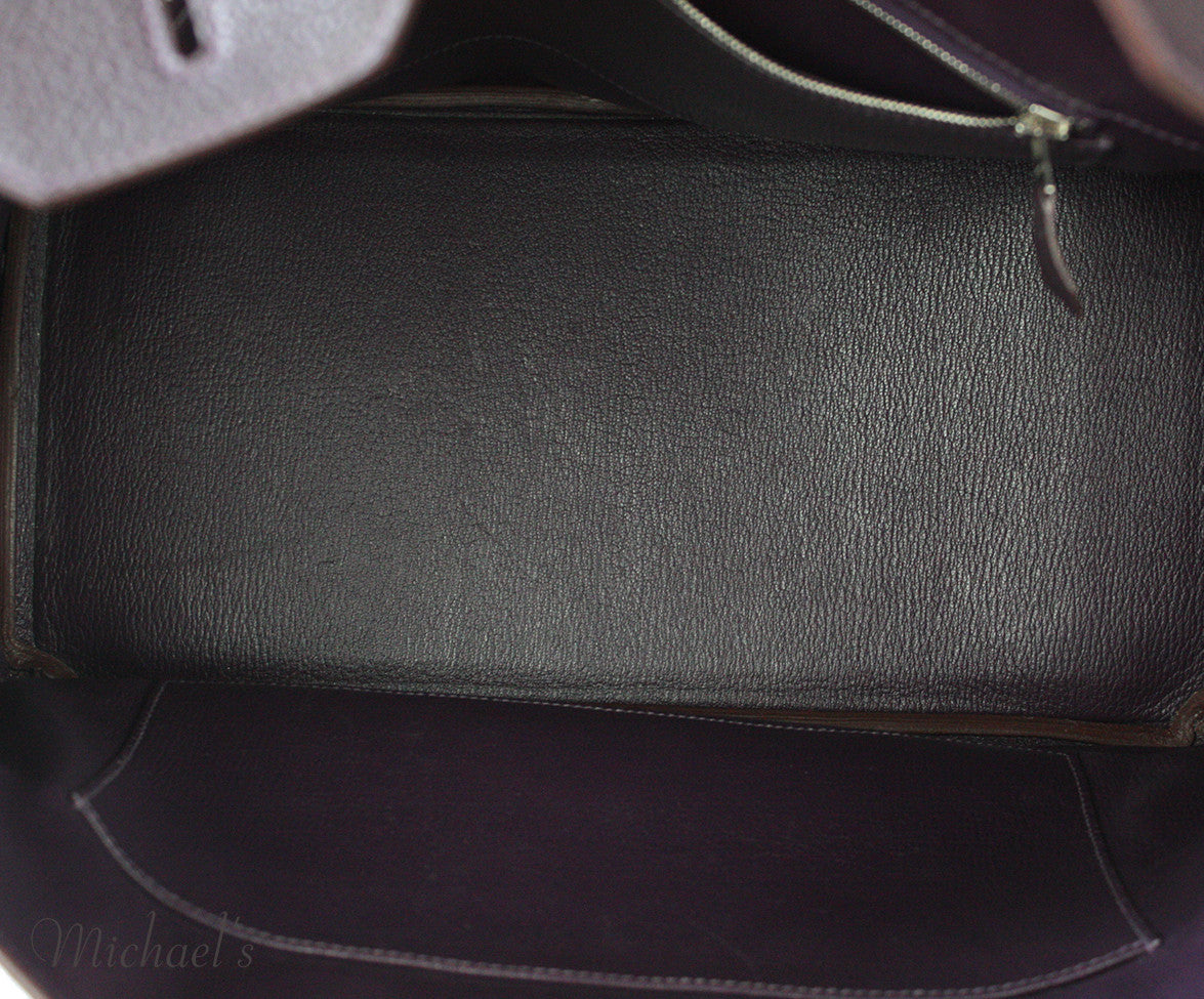 Hermes Birkin Raisin Grained Leather Bag - Michael's Consignment NYC  - 21