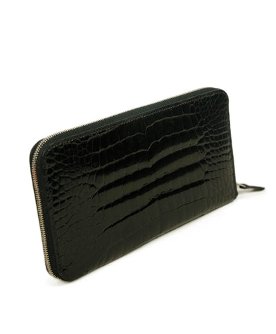 Hermes Black Alligator Skin Wallet