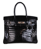 Hermes Black Crocodile 30cm Birkin Bag 1