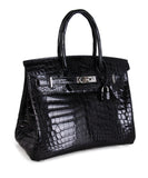 Hermes Black Crocodile 30cm Birkin Bag 2