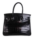Hermes Black Crocodile 30cm Birkin Bag 3