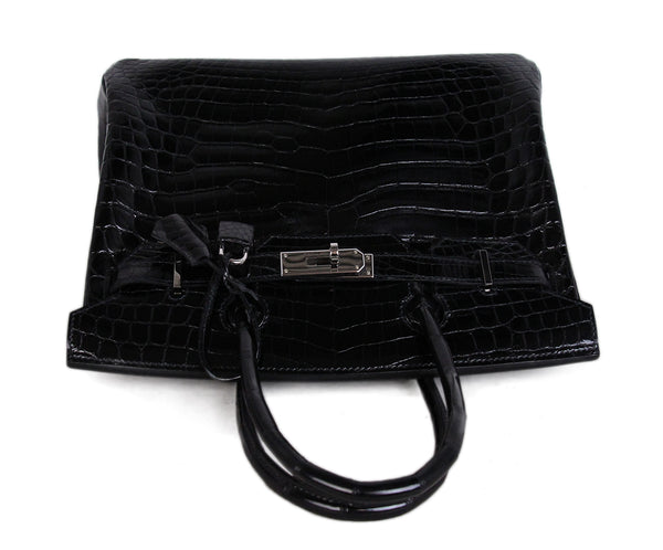 Hermes Black Crocodile 30cm Birkin Bag 5