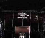 Hermes Black Crocodile 30cm Birkin Bag 12
