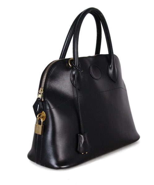 7733071664e Gold Hardware Hermes Black Leather W/Strap W/Lock & Keys Handbag - Michael's  Consignment NYC