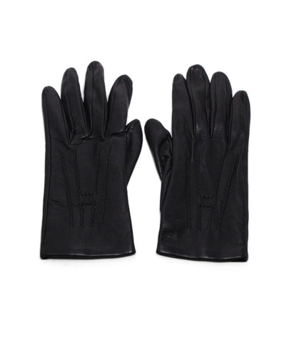 Hermes Black Leather Gloves 1