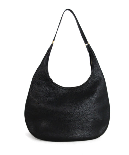 Hermes Black Leather Hobo Bag 1