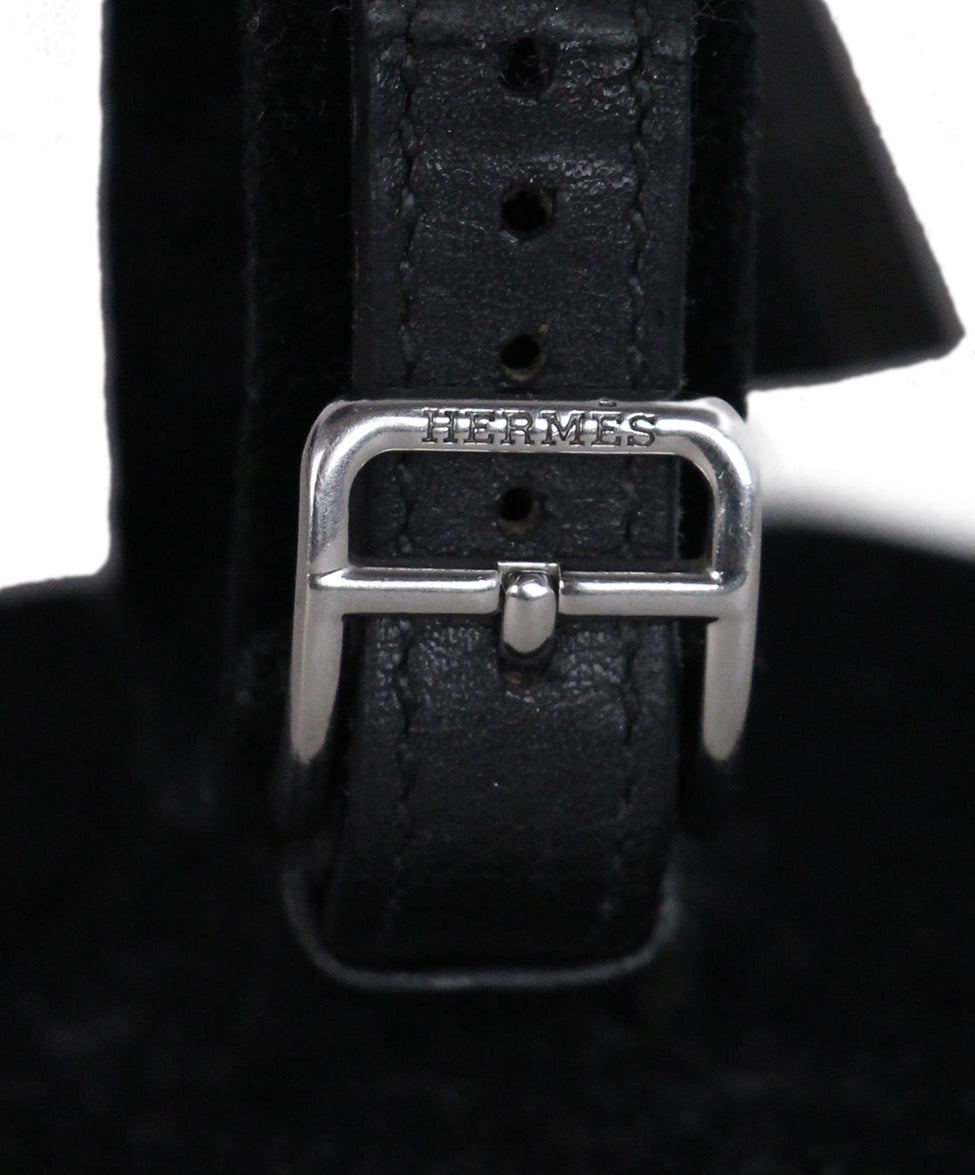 Hermes Black Leather Kelly Watch 4
