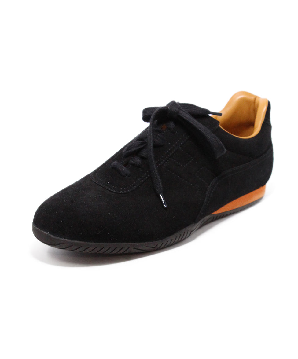 Hermes Black Suede Sneakers 1