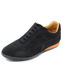 Hermes Black Suede Shoes