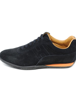 Hermes Black Suede Shoes 1
