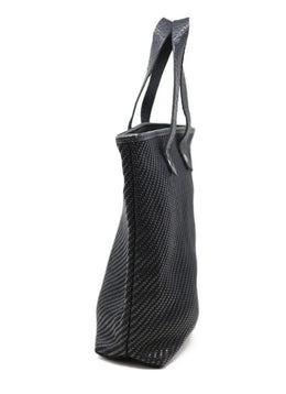 Hermes Black Woven Leather Bag