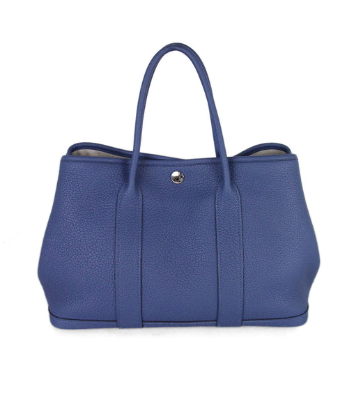 Hermes Blue Garden Party Tote 1