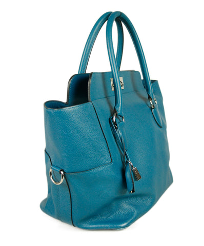 Hermes Blue Teal Leather Bag 1