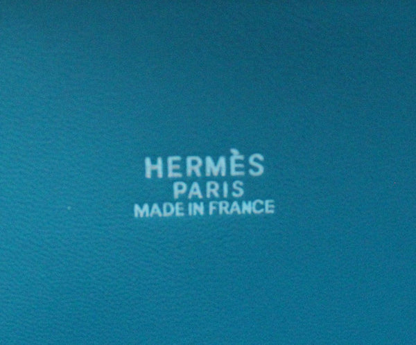 Hermes Turquoise Blue Leather Satchel 31CM Bolide 7