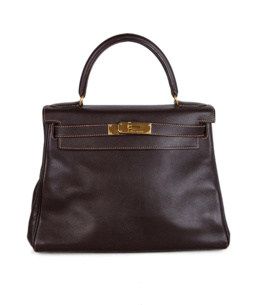 Hermes Brown Leather 25cm Kelly Bag 1